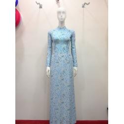 Mẫu áo dài đep, áo dài truyền thống hoa nhí